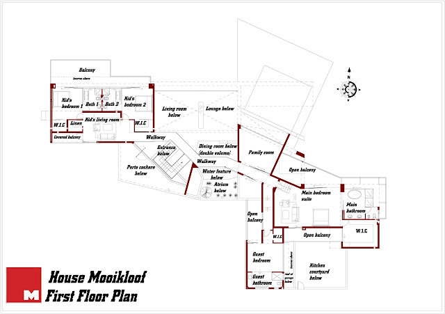 First floor plan of the house in the wild