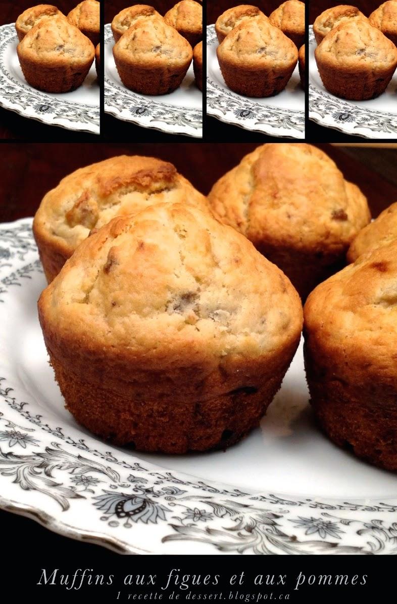 1 recette de dessert recette de muffins aux figues et aux pommes