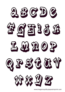 Letras graffiti para imprimir
