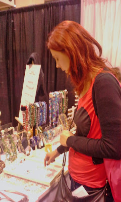 Shopping at The National Women's Show, at Metro Convention Centre in Toronto. Fashion, shopping, travel, and fitness booths and vendors