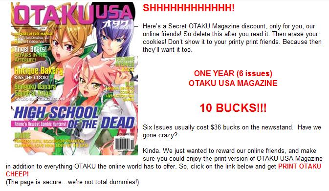 I Thought You Might Want To Take Otaku USA Up On The Offer 10 For A Full Year Subscription Is Absolutely Fantastic
