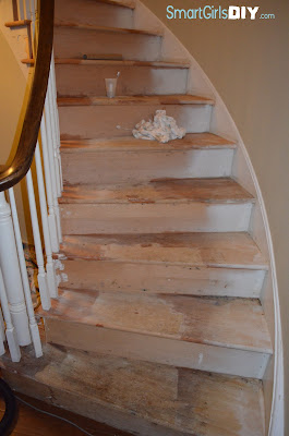 Staircase renovation take carpet off toothbrush