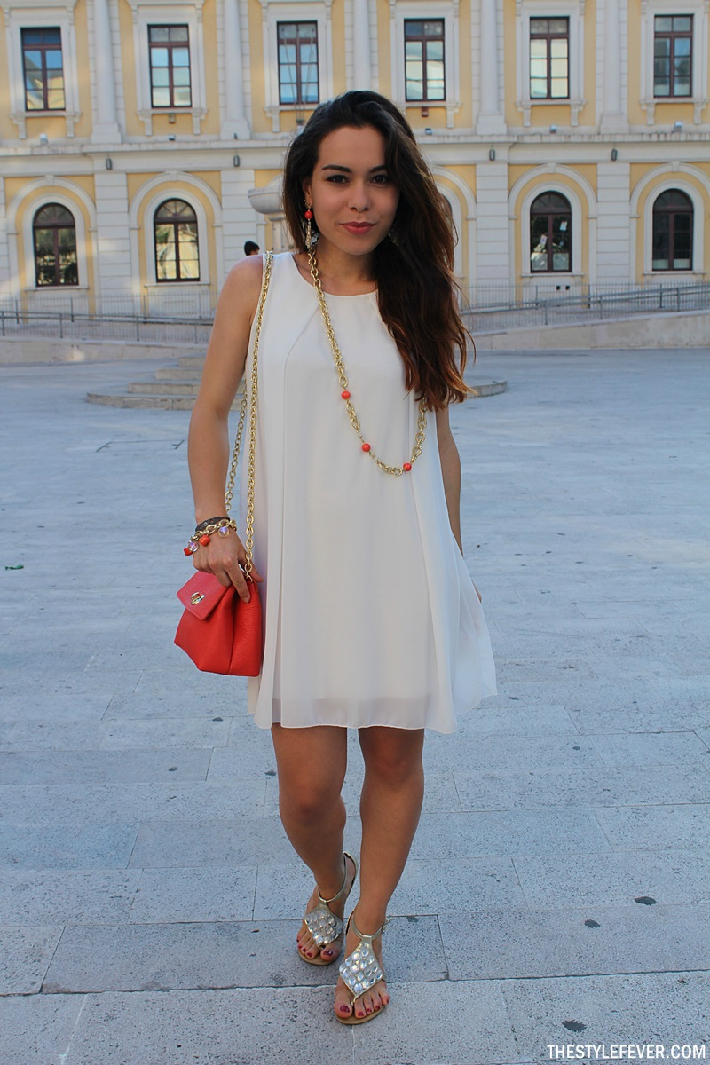 Outfit vestito bianco, Fizzy Bari, fashion blogger, Mina Masotina