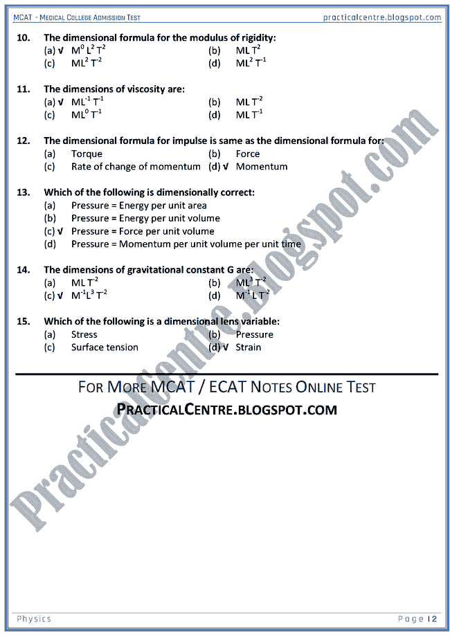 mcat-physics-dimensions-and-significant-figures-mcqs-for-medical-admision-test