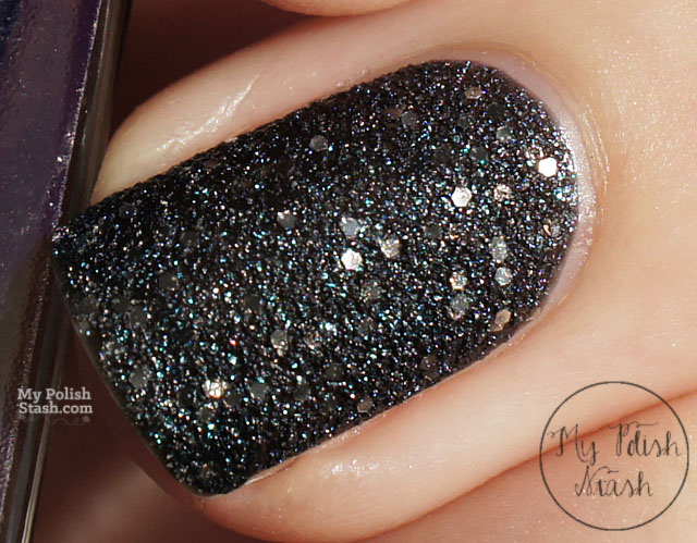 textured nail polish teal