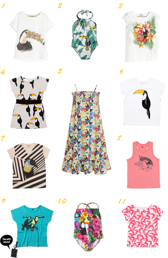 Tendencias moda niña primavera verano 2014 Tucanes