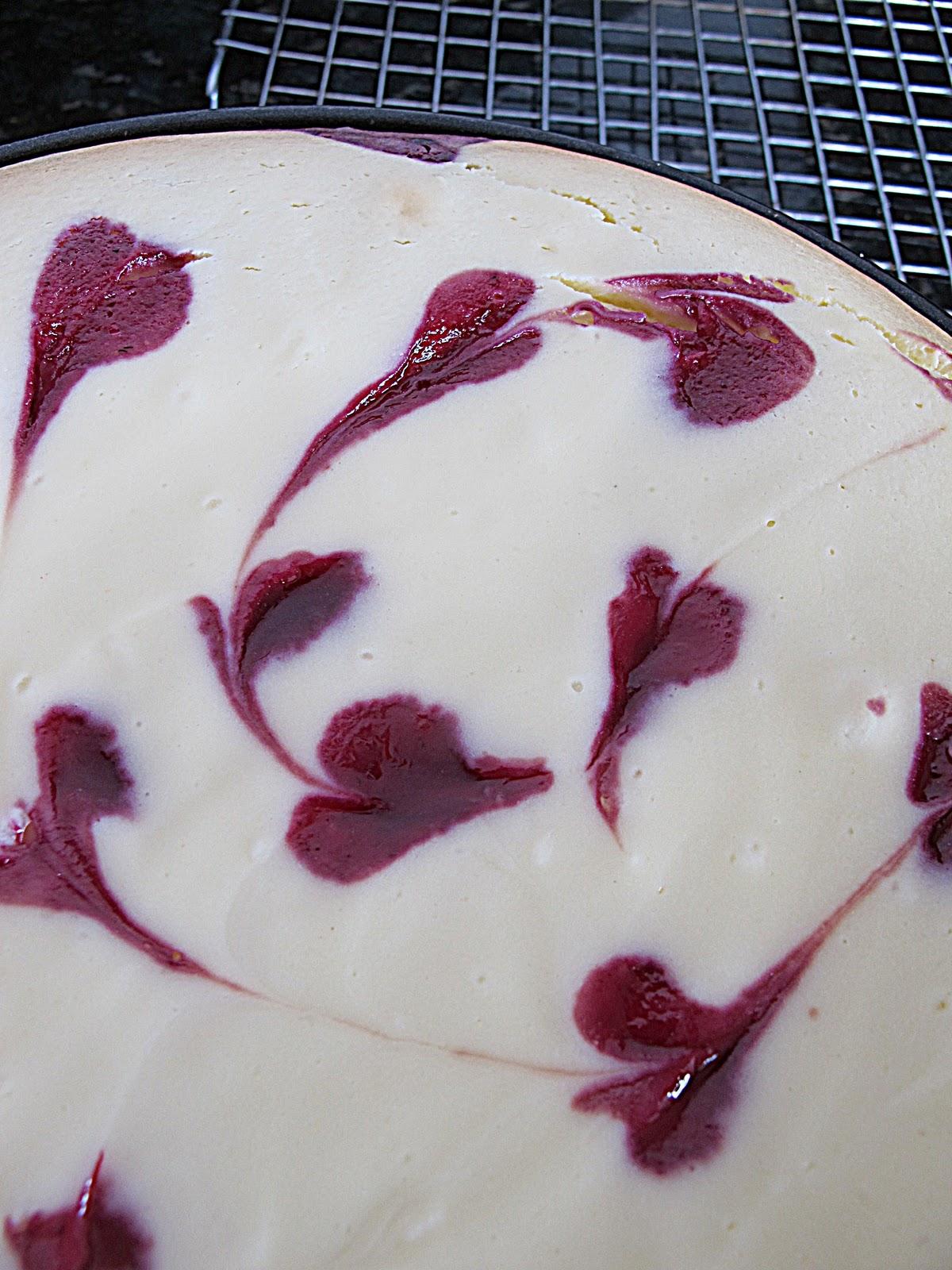 Purple Chocolat Home: Blackberry Lemon Layered Cheesecake