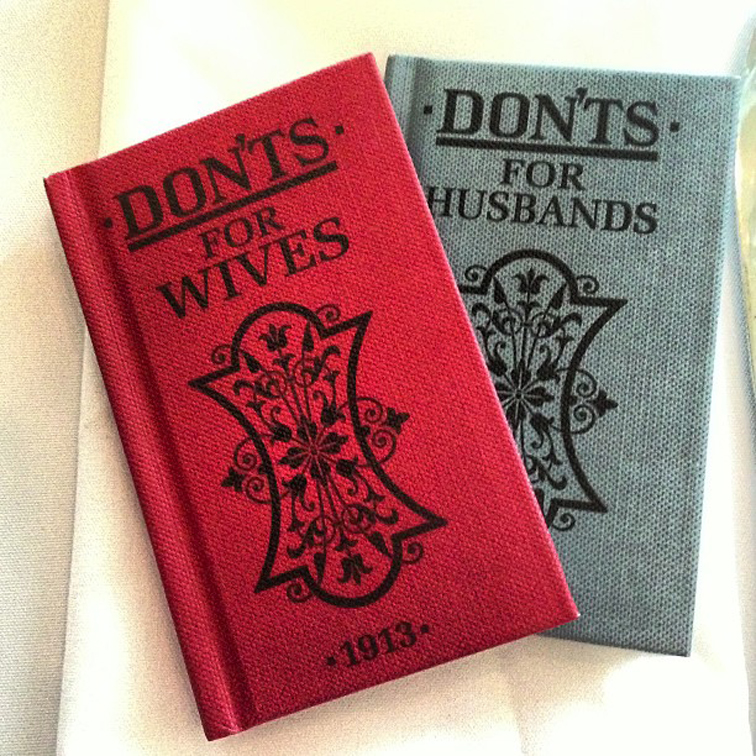 Don'ts For Wives & Husbands Wedding Swag