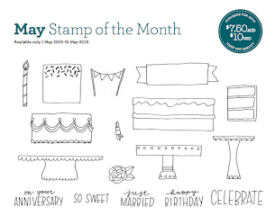 May Stamp Of The Month - Celebrate with Cake!