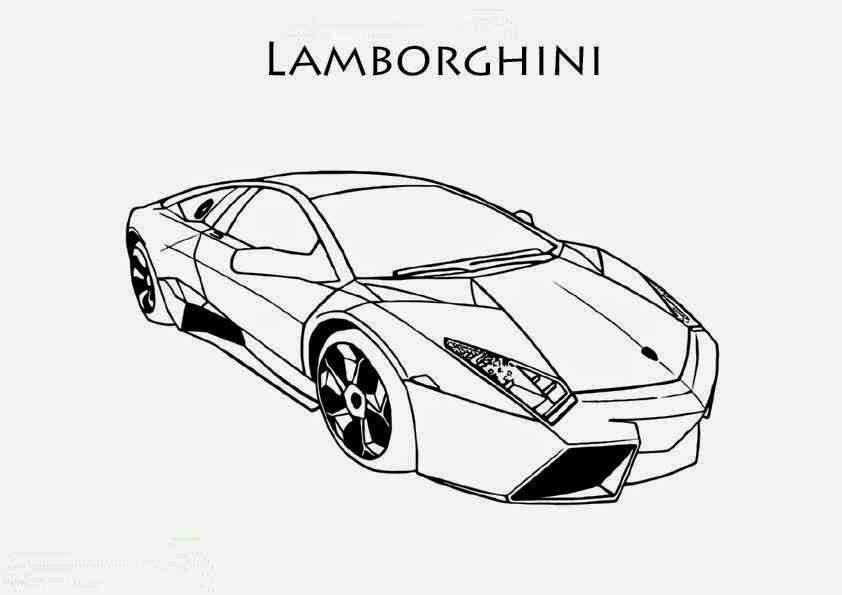Lamborghini Coloring Pages To Prin