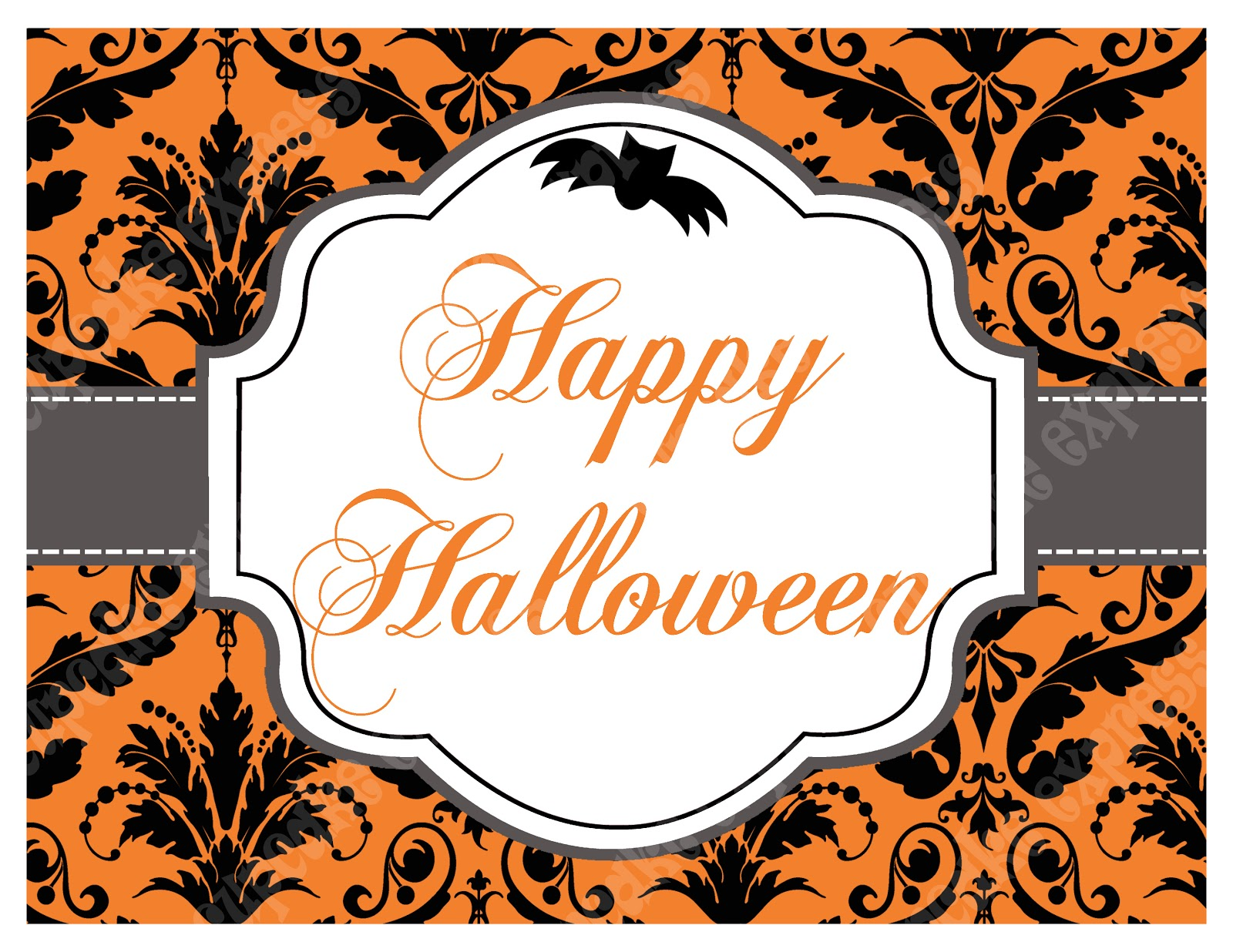 Unusual image pertaining to happy halloween signs printable