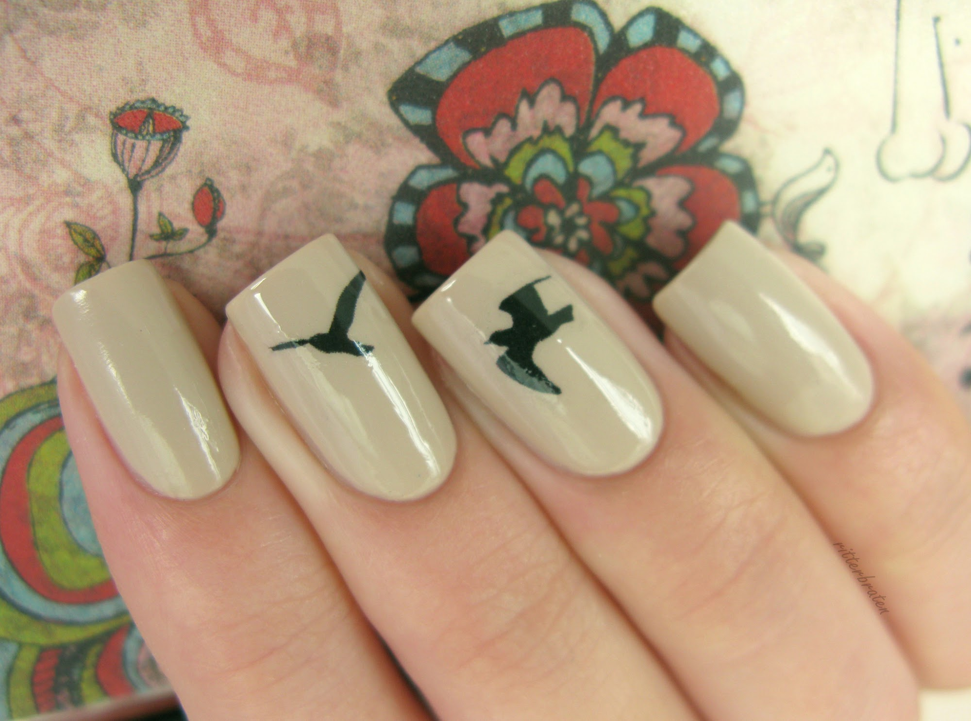 birds nail decals stickers