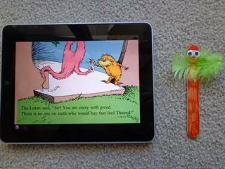 The Lorax 3 Easy Steps Craft Stick Activity via www.happybirthdayauthor.com