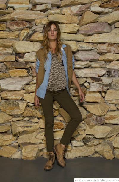 Vov Jeans Moda otoño invierno 2012. Chalecos tejidos 2012.