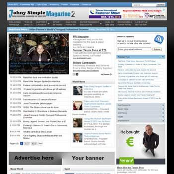 Johny Simple Magazine 2 blogger template. clean template for blogger template. portal news blogger template