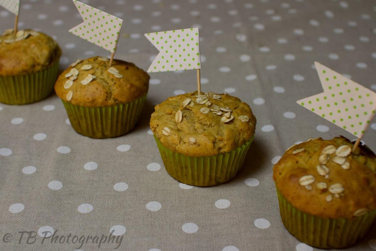 muffin di farro con miele e fiocchi d'avena