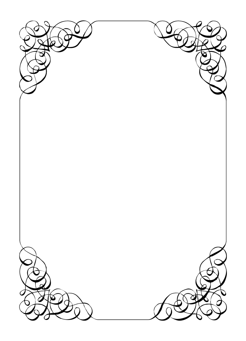 Blank Wedding Invitation Borders Templates Free