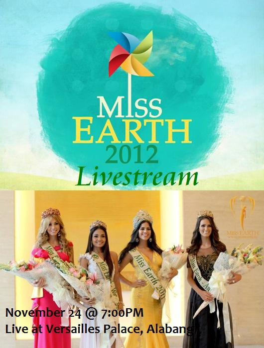 Watch Miss Earth 2012 Live Streaming Online