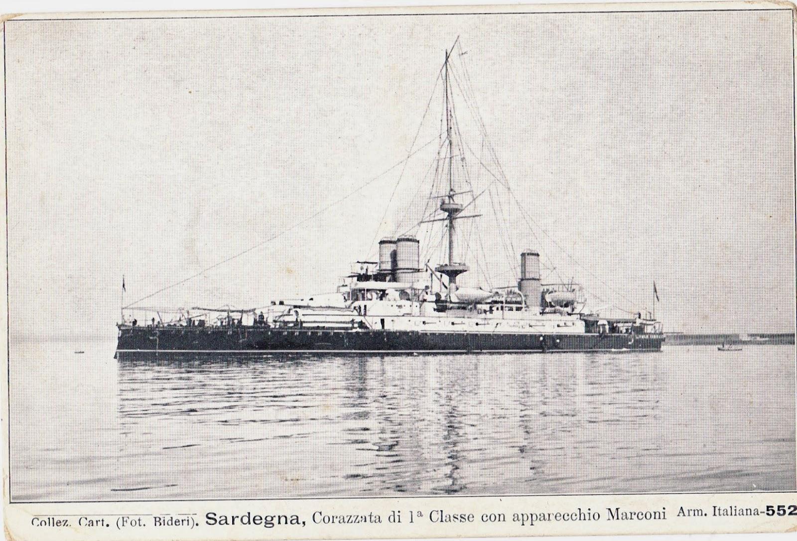 Guglielmo marconi stamps nave sardegna corazzata di for Nave sardegna