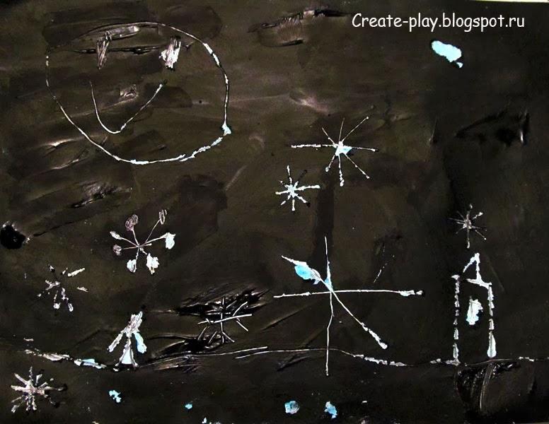 граттаж детский рисунок