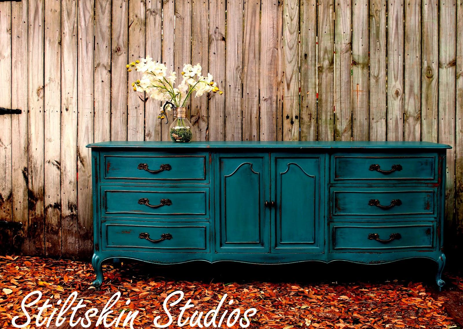 stiltskin studios peacock blue dresser. Black Bedroom Furniture Sets. Home Design Ideas