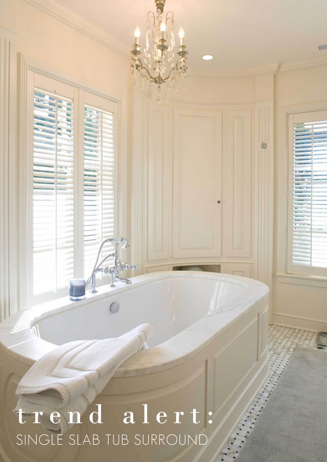 Ourso Designs: Trend Alert: Undermount tubs and single-pieced slab ...