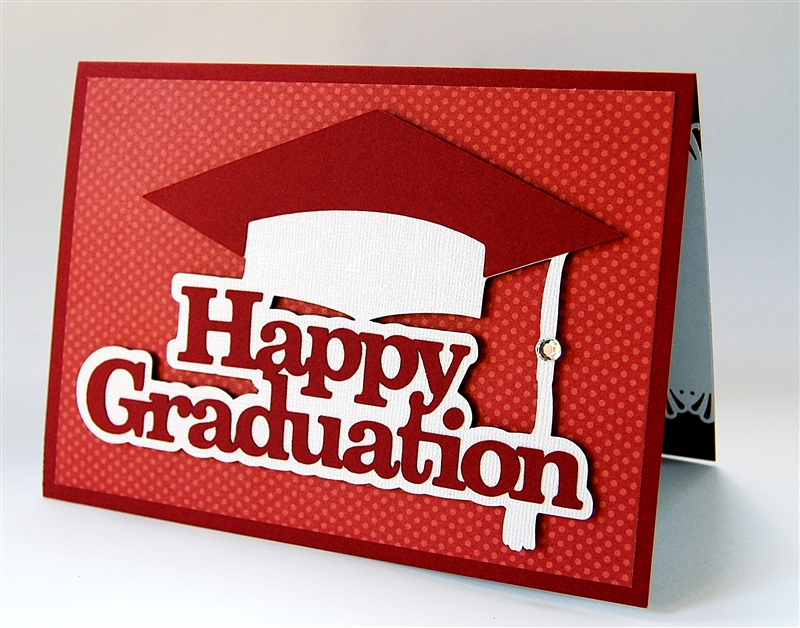 capadia designs happy graduation a simple card design
