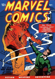 Marvel Trade Paperback Timeline TPB Marvel Comics #1 Issue One Martin Goodman Frank Paul Carl Burgos Human Torch Jim Hammond Phineas Horton Cover October 1939 comic book