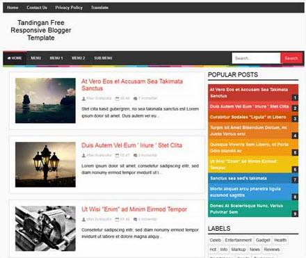 Tandingan Free Responsive Blogger Template