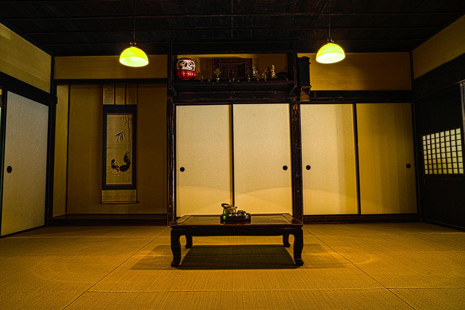 江戸東京たてもの園、万徳旅館の和室