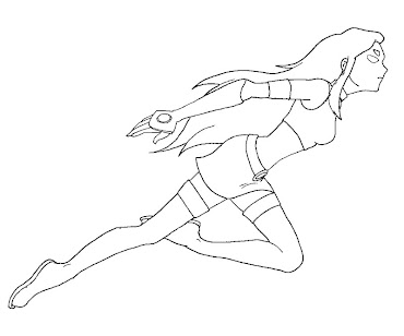 #2 Starfire Coloring Page