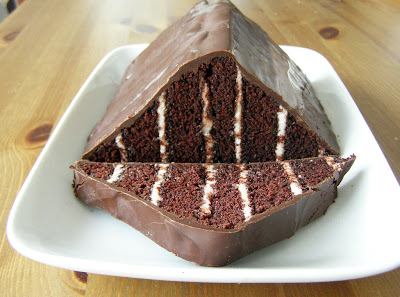 Vegan Chocolate Mint Triangle Zebra Cake