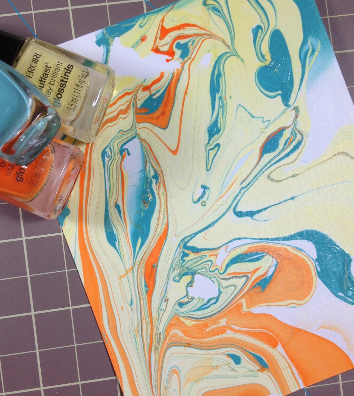 Marble Nail Polish Instructions: K And R Designs: {Nail Polish} Marbling Day 2