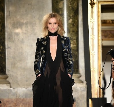 Feminity takes a new turn - Milan Fashion Week | Eva Herzigova at Milan Fashion Week 2015