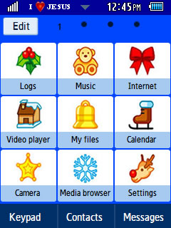 General Latest Christmas 2012 Samsung Corby 2 Theme Menu