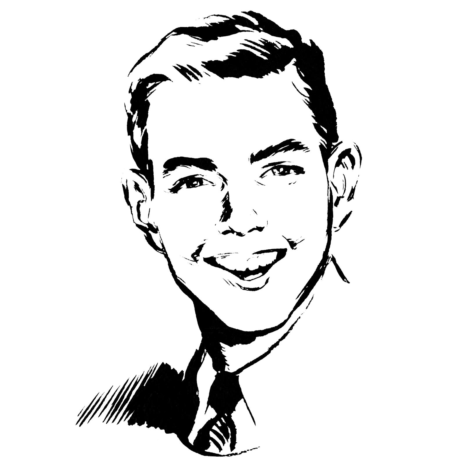 Man S Face Line Drawing : Rosehaven cottage studio freebie vintage image set