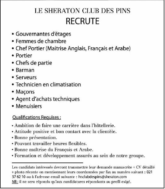 RECRUTE, LE SHERATON CIUB DES PINS 2013 024