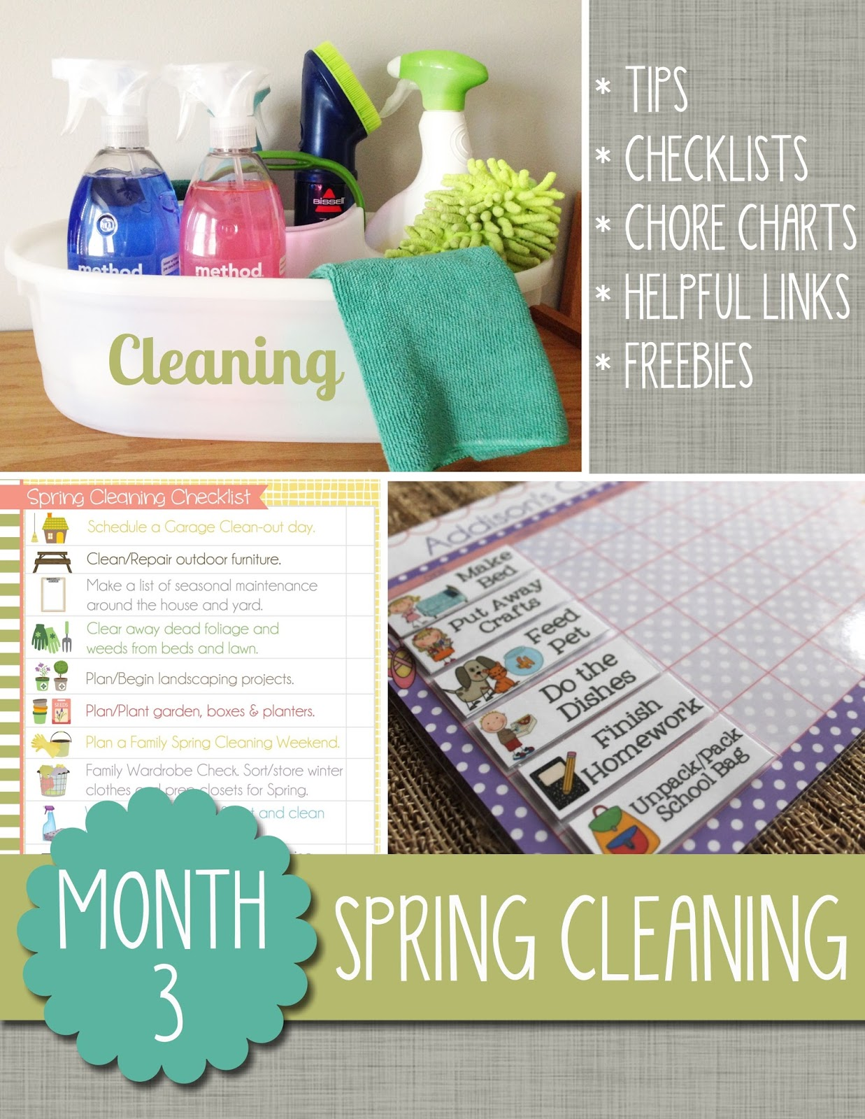 The polka dot posie month 3 spring cleaning What month is spring cleaning