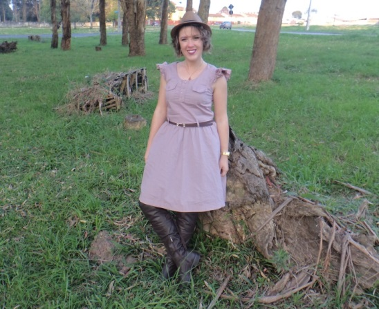Look com Vestido e Bota Over The Knee