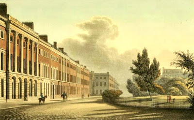 North side of Grosvenor Square from Ackermann's Repository (Nov 1813)