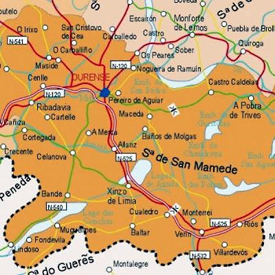 Ourense Mapa Ciudad de la Región