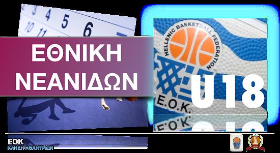 Κλήσεις Εθνικής Νεανίδων (Κλιμάκιο Αθηνών)