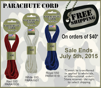 Free Shipping on orders of $40+ at Parachute Cord Craft.com