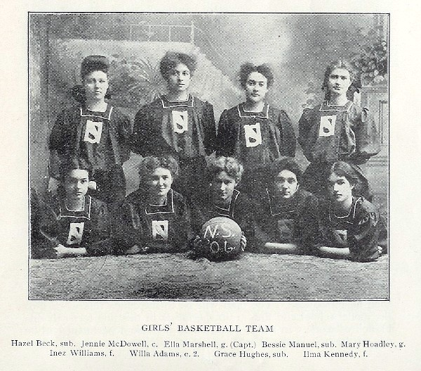 1906 yearbook girls basketball team