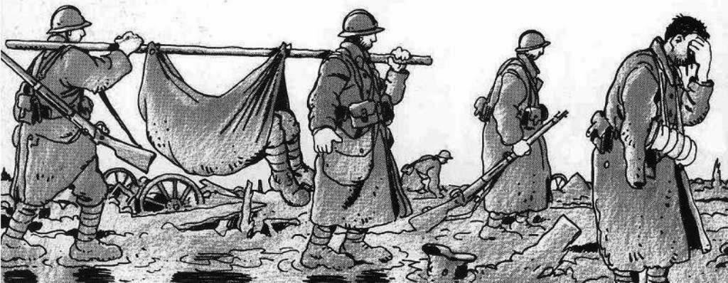 En 1914 los europeos olvidan todos los valores de la Ilustración entre el barro y el horror de las trincheras -viñeta de Jacques Tardi