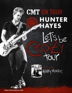 Hunter Hayes Ashley Monroe concert tour CMT Grammy