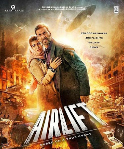 Poster Of Bollywood Movie Watch Online Airlift 300MB DVDScr Full Movie Free Download