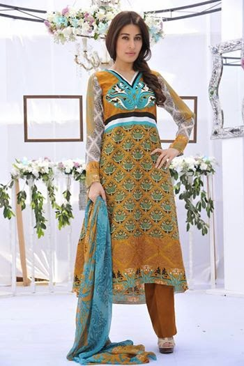 Nofil Siddiqui Summer collection 2014 featuring Shaista Wahidi
