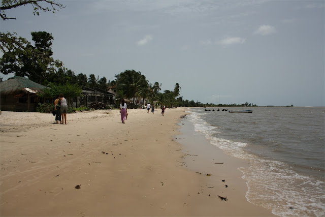 Playa de Carabane - Vamos a almorzar
