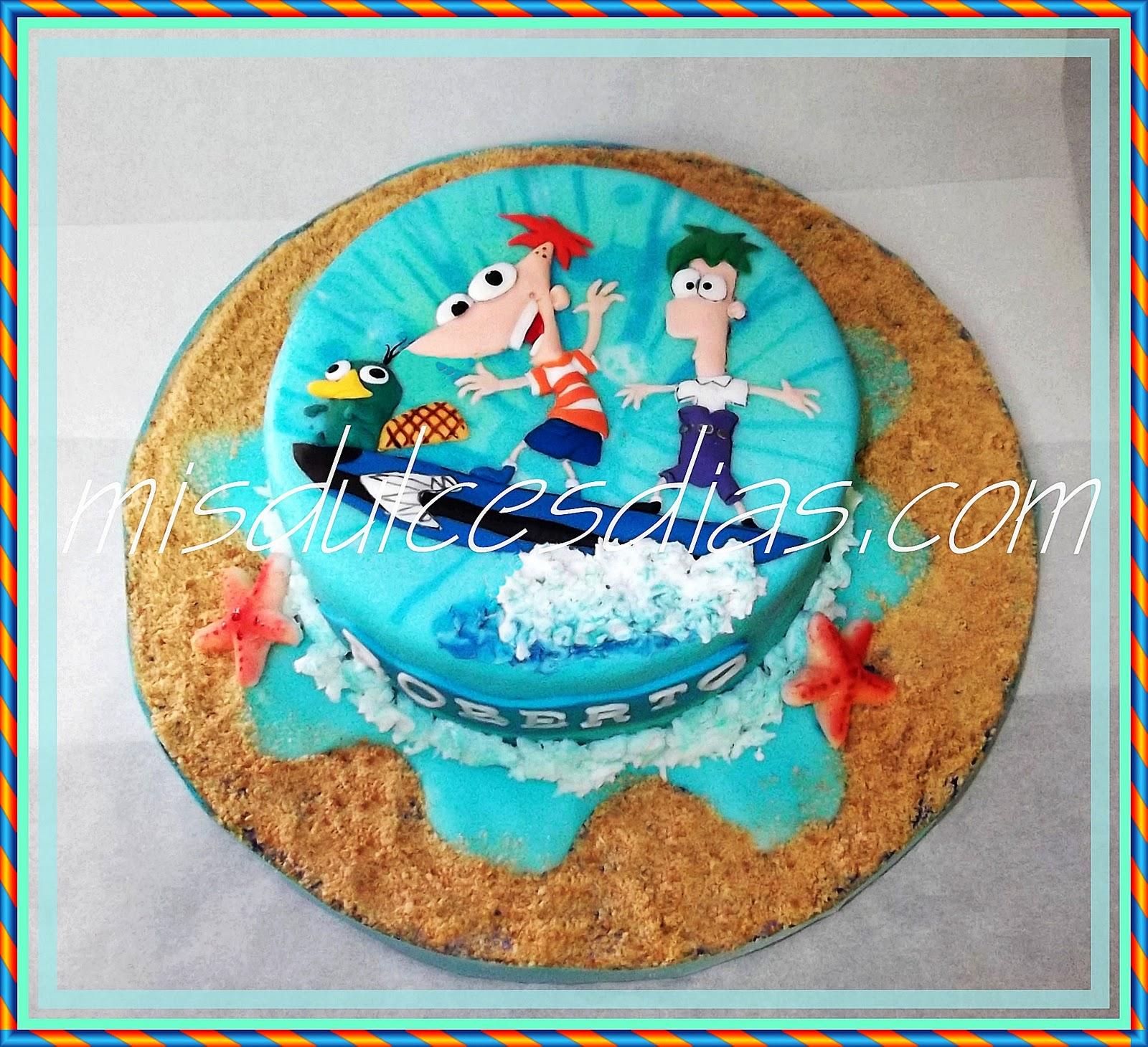 Tarta De Phineas Y Ferb